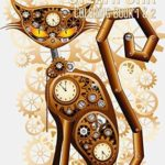Steampunk Coloring Book 1 & 2