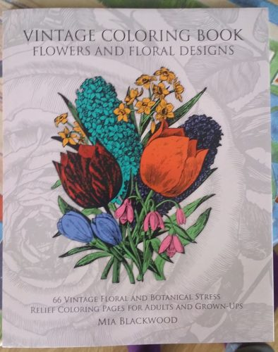 Vintage Colouring Book, Flowers and Floral Designs